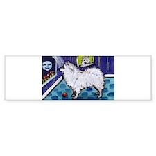 American Eskimo Dog cs moon Bumper Bumper Sticker