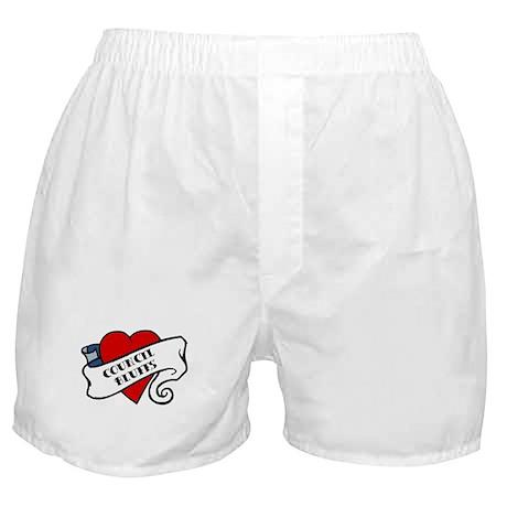 Council Bluffs tattoo heart Boxer Shorts