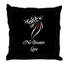 Jesus Christ No Greater Love Throw Pillow