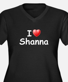 I Love Shanna (W) Women's Plus Size V-Neck Dark T-