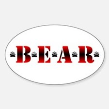 *B*E*A*R* Oval Decal