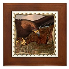 Flight of the Eagle Close Up Framed Tile