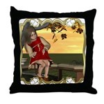 Little Miss Muffet Throw Pillow