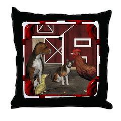 The Little Red Hen Throw Pillow