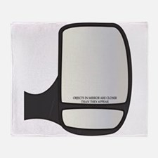 Objects In Van Side Mirror Closer Throw Blanket