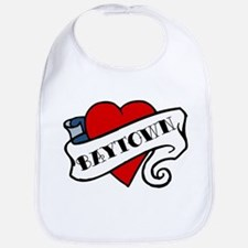 Baytown tattoo heart Bib