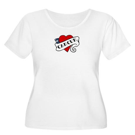 Cancun tattoo heart Women's Plus Size Scoop Neck T