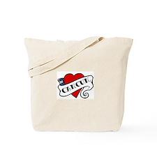 Cancun tattoo heart Tote Bag