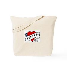 Ithaca tattoo heart Tote Bag