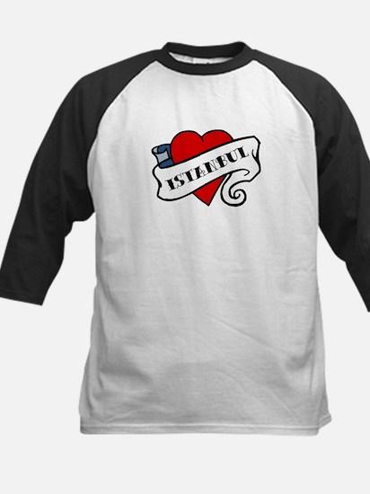 Istanbul tattoo heart Kids Baseball Jersey