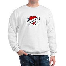 California tattoo heart Sweatshirt