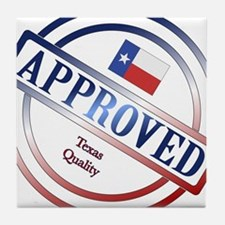 Texas Quality Approved Stamp Tile Coaster
