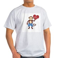 Love Monkey Boy Heart T-Shirt