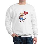 Love Monkey Boy Heart Sweatshirt