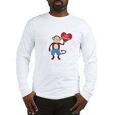 Love Monkey Boy Heart Long Sleeve T-Shirt