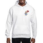 Love Monkey Boy Heart Hooded Sweatshirt