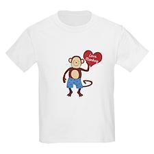 Love Monkey Boy Heart T-Shirt