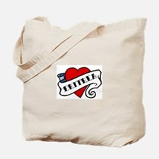 Eritrea tattoo heart Tote Bag