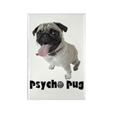 Psycho Pug Rectangle Magnet