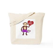 Love Monkey Girl Heart Tote Bag