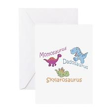 Mom, Dad & Skylarosaurus Greeting Card
