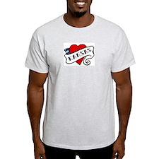 Kansas tattoo heart T-Shirt