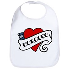Morocco tattoo heart Bib