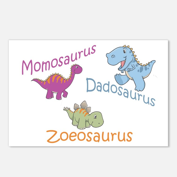 Mom, Dad & Zoeosaurus Postcards (Package of 8)