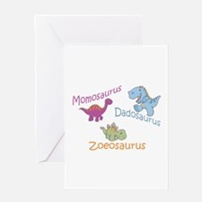 Mom, Dad & Zoeosaurus Greeting Card