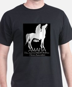 AMAHA logo and full name in white T-Shirt