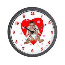 Lots of Hearts Cupid Wall Clock