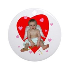 Lots of Hearts Cupid Ornament (Round)