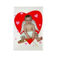 Lots of Hearts Cupid Rectangle Magnet