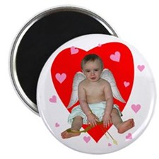 Lots of Hearts Cupid Magnet