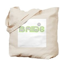 Fun Colors Bride Lilac/Green Tote Bag