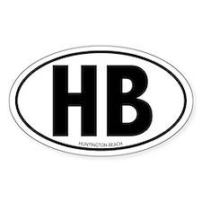 HB - Huntington Beach Oval Decal