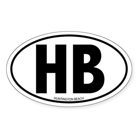 HB - Huntington Beach Oval Sticker