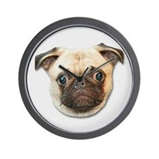 Cute Pug Puppy Dog Lover Wall Clock