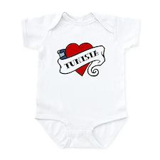 Tunisia tattoo heart Infant Bodysuit