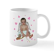 Pink Hearts Cupid Mug