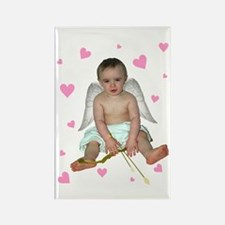 Pink Hearts Cupid Rectangle Magnet