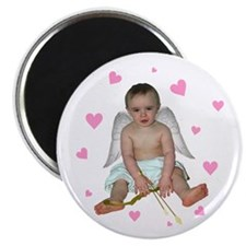 Pink Hearts Cupid Magnet