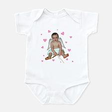 Pink Hearts Cupid Infant Bodysuit