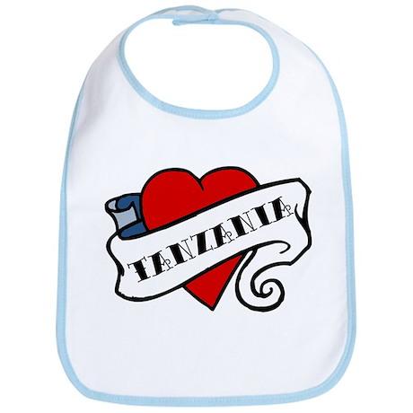 Tanzania tattoo heart Bib