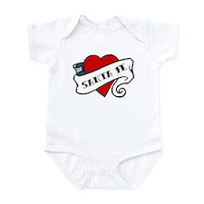 Santa Fe tattoo heart Infant Bodysuit