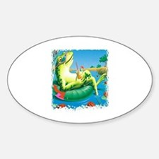 frog vacation Oval Decal