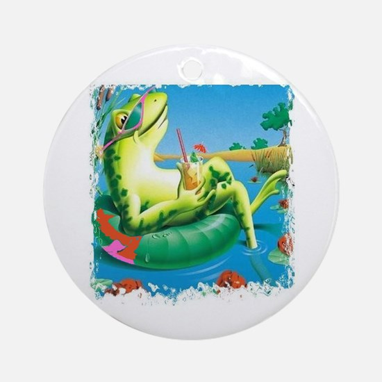 frog vacation Ornament (Round)