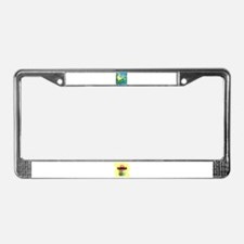 frog vacation License Plate Frame