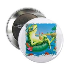 """frog vacation 2.25"""" Button"""