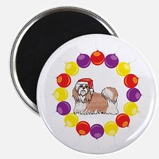 Christmas Wreath Shih Tzu Magnet
